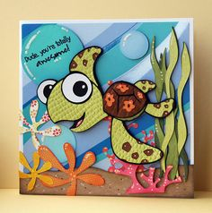 Yes this is a card, but I am going to create the idea for my scrapbook page!!! Thanks
