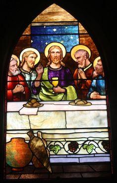 Tiffany Glass & Decorating Company | The Last Supper, ca. 1891 | Leaded glass | St. Savior's Episcopal Church, Bar Harbor, ME