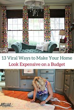 13 awesome ideas to make your home look expensive on a budget.
