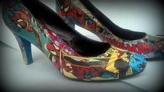 Custom Comic Shoes (spiderman) by MaizyCakes for $45.00