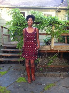 IkaatDress made by SewStylist from Tiny Pocket Tank Top Sewing patter-lengthened into a dress.