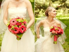 coral wedding reception | jennie and shane {coral and green mountain wedding} » P H O T O B O L ...