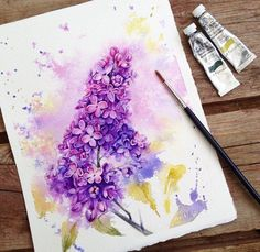 Beauty Flowers in Watercolor Paintings By: Russian Artist Elena: