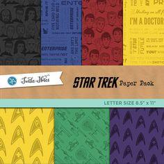 Star Trek Letter Sized Paper Pack : 42 Printable Digital