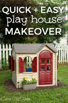 Little Tikes House Makeover Got an old faded plastic play house? Make it look amazing again! This Little Tikes House makeover will make any plastic toy look like brand new!