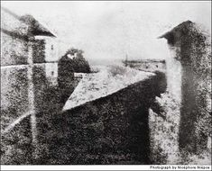First ever photograph. 1827 by Nicéphore Niépce.