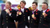 GB's showjumpers celebrate their team success