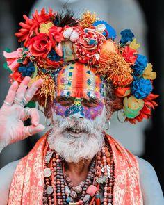 Hello from . Cultures Du Monde, World Cultures, Portraits, Portrait Photographers, Tribal Face, Body Adornment, Fancy Hats, Religion, Art Challenge
