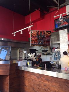 Hot Taco - Ordering area. - Detroit, MI, United States