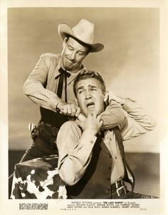 THE LAST BANDIT (1949) - Lawman brother (William Elliott)  versus outlaw brother (Forrest Tucker) - Directed by Joseph Kane - Republic Pictures - Publicity Still.