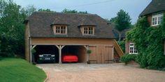 dwarf house | Oak Frame 3 Bay 2 Storey Garages | Crown Oak Buildings | Across Kent ...