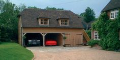 dwarf house | Oak Frame 3 Bay 2 Storey Garages | Crown Oak Buildings | Across Kent ...