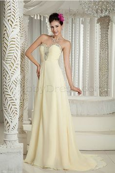 Elegant Sweetheart Evening Dresses Formal Evening Daffodil