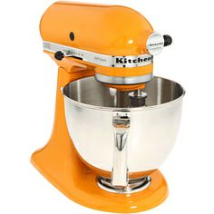 i have always wanted a kitchenaid stand mixer for my kitchen. i will have one someday, ideally orange or turquoise.