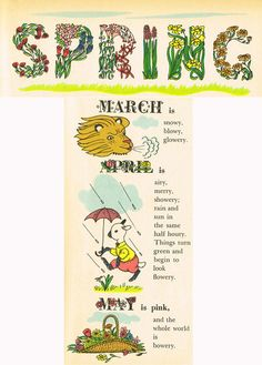 """from """"The New Golden Almanac"""" by Kathryn Jackson, illustrated by Richard Scarry, 1952"""