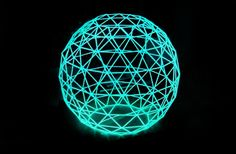 Tuukka Halonen Designed EL Wire Spheres or Globes inspired by Scandinavian Christmas Star Decorations