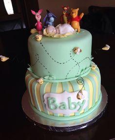 Wonderful U0027Winnie The Poohu0027 Baby Shower Cake