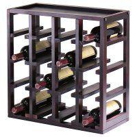 counter top 16 bottle wine rack