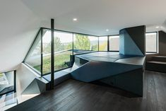 Image 23 of 35 from gallery of CoMED / architekten ZT KG. Photograph by Hertha Hurnaus Photography Architecture Origami, Architecture Cool, Contemporary Architecture, Contemporary Homes, Yacht Interior, Interior Design, Furniture Design, Kitchen Furniture, Living Spaces
