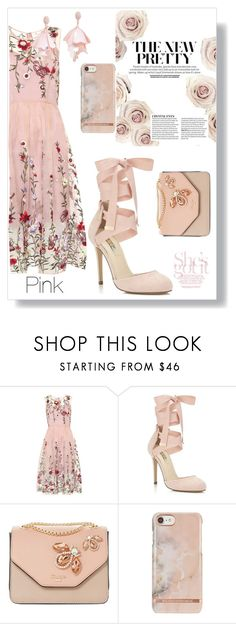 """P"" by yolopid ❤ liked on Polyvore featuring Miss Selfridge and Oscar de la Renta Pink Label"
