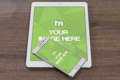 Android Phone and White iPad Mockup - Mediamodifier - Online mockup generator