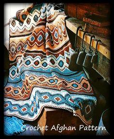Crochet Afghan Pattern Instant Download PDF Pattern No.