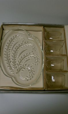 Hospitality Glass Snack Set Federal Glass Co by PrettyKelly, $18.00