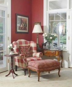 Living Room Red Decor French Country New Ideas French Decor, French Country Decorating, Country Cottage Living, Red Cottage, Country Farmhouse, English Country Decor, Country Style, Country French, English Cottage Style