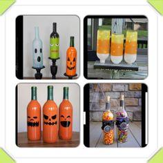 Halloween wine bottle projects.