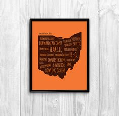 Bowling Green State University Inspired by DivisionDesigns