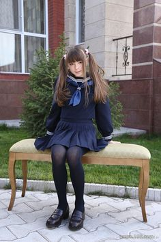 School Girl Japan, School Girl Dress, Girly Girl Outfits, Cute Girl Dresses, Cute School Uniforms, School Uniform Girls, Preteen Girls Fashion, Girl Fashion, Cute Asian Girls
