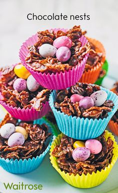 47e3df16a1b4 A traditional childhood favourite, chocolate nests, are an essential Easter  treat. Top with