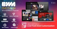 EWA v2.1 is one of amazing WordPress theme that you could not miss. Fully Responsive Theme providing 15 pre-defined skins with stunning looks, you will get more than a premium WordPress theme.