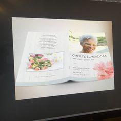 bottlebrush funeral program design funeral program templates