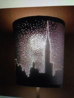 Poke holes in lamp DIY