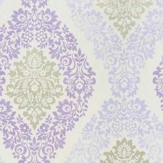 Coral Soft Damask Wallpaper White / Lilac / Silver 293059 by GranDeco Galerie