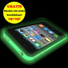GRATIS iPhone 4(S) Glow-In-The-Dark Bumper (twv € 16,95) - Hoesjes - iPhone 4(S) - Telefoon Accessoires