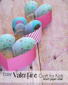 Super Cute Paper Heart Valentine Craft