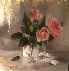 Oil on linen by Brigitte Cazenave ,french artist