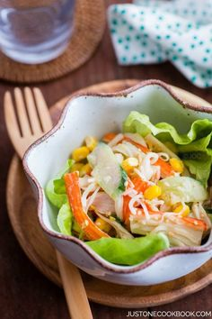 15 Easy Japanese Salad Recipes, crab salad with Ponzu mayonnaise dressing - Here's a scrumptious sel Japanese Crab Salad Recipe, Japanese Salad, Easy Japanese Recipes, Asian Recipes, Japanese Food, Imitation Crab Recipes, Imitation Crab Salad, Seafood Recipes, Appetizer Recipes