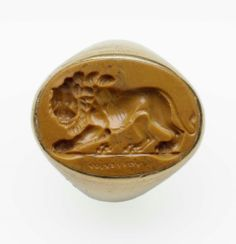 Oval gem with striding lion -  Roman, Imperial Period, 2nd–early 3rd century