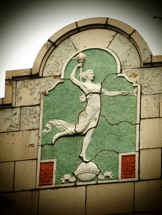 The Spirit of Progress - Art Deco Terra Cotta Bas Relief on Former Montgomery Ward Company Building - Holland, MI_P7087036e by Wampa-One on Flickr.