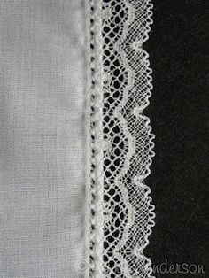 Adding Lace with Pin Stitching. That does it! I'm trading in my old machine for a Bernina!