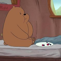Tag someone who eats like grizz 🐻🍛 Cute Patterns Wallpaper, Cute Disney Wallpaper, Cute Cartoon Wallpapers, Bear Cartoon, Cartoon Icons, Cartoon Drawings, Ice Bear We Bare Bears, We Bear, Cartoon Network