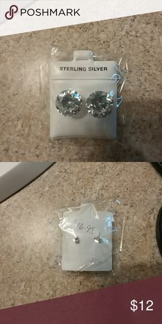 🎉❤ Sterling silver earrings! Brand new! Never been opened! Accessories