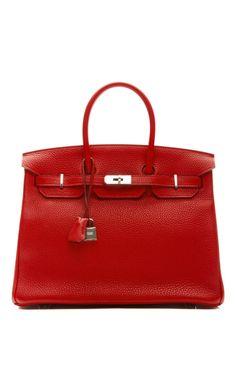 35Cm Rouge Casaque Clemence Leather Birkin Hermes Birkin a75d99f64b5ca