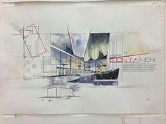 Interior Design Renderings, Interior Rendering, Interior Sketch, Interior Architecture, Exhibition Plan, Perspective Sketch, Hotel Lobby, Sketch Design, Presentation Design