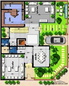 Modern House Floor Plans, Simple House Plans, Beautiful House Plans, Home Design Floor Plans, Family House Plans, New House Plans, House Plans Mansion, Duplex House Plans, House Layout Plans