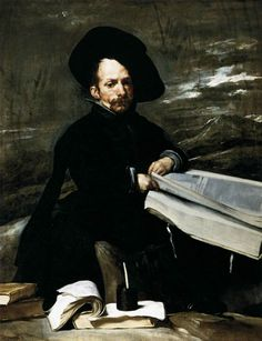 Diego Velázquez (Spanish [Baroque, Portrait] A Dwarf Holding a Tome in His Lap, Prado Museum, Madrid. Spanish Painters, Spanish Artists, Caravaggio, Rembrandt, Diego Velazquez, Culture Art, Painting Prints, Art Prints, Paintings