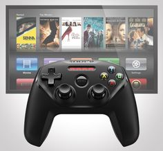 The SteelSeries Nimbus Controller For Apple TV, aka the first Gamepad Controller for the Apple TV. We're sure you've heard the buzz about the new Apple TV, with its new and improved interface, awesome remote with responsive touchpad and increased available apps—read: GAMES.